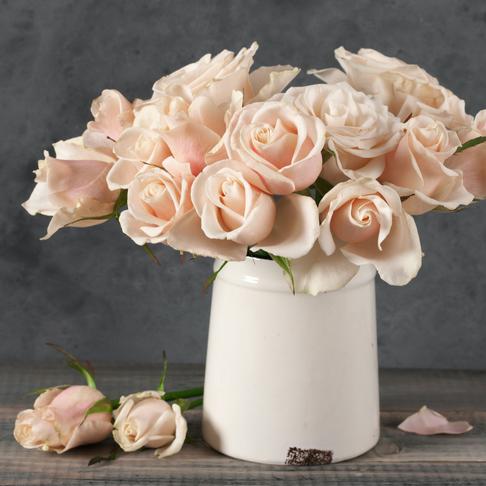 Er det plass til flere roser i vasen?