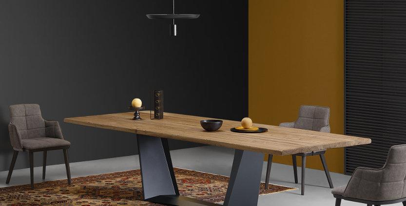 イタリア製 無垢天板  ダイニングテーブル AN