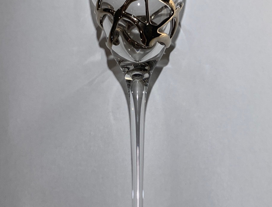 スペイン製 ワイングラス シルバー