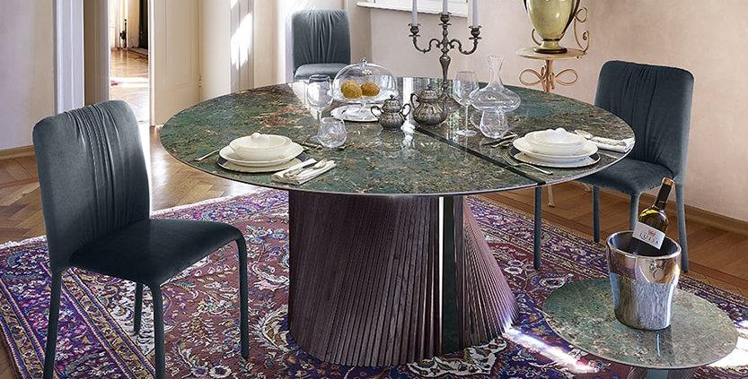 イタリア製 セラミックダイニングテーブルCL 円形