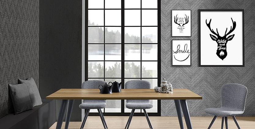 イタリア製 無垢天板  ダイニングテーブル Pro