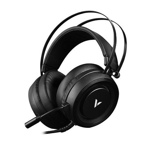 RAPOO VH500 Illuminated RGB Glow Gaming Headsets Black - 16m Colour Breathing Li
