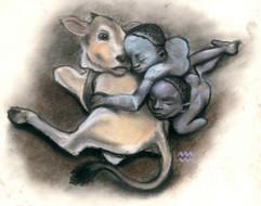 Sleeping Mursi Boys - SOLD