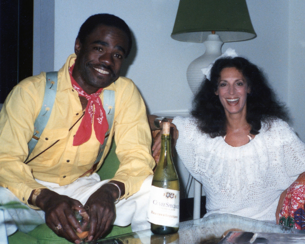 Glynn Turman and Marion Segal Freed in Jamaica during the shooting of Sunsplash. Photographer: Herb Freed