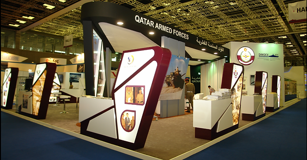 Single Deck Exhibition Stand Contractors in Doha Qatar