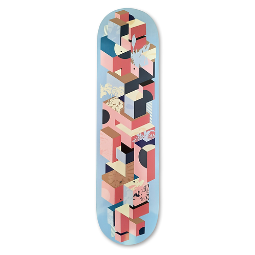 Skateboard deck   Urban Jungle - Purple