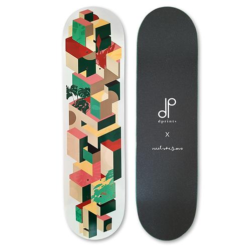 Skateboard deck | Urban Jungle - Grey
