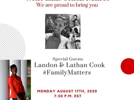 Catch my sons on Inspirational talks #FamilyMatters