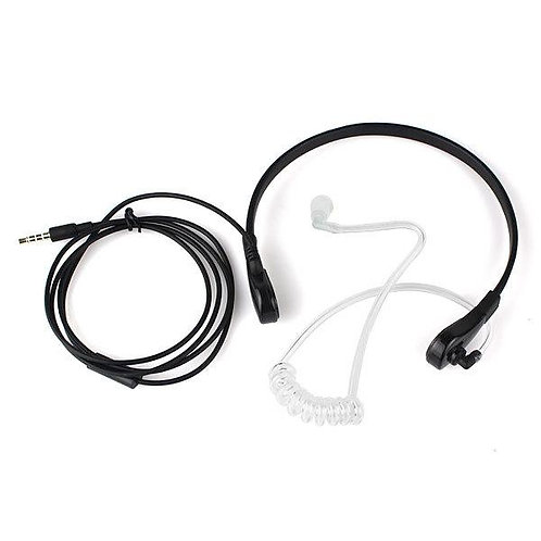 Digitalk Air Tube Headset with Thoat Microphone for Handheld CB Radios