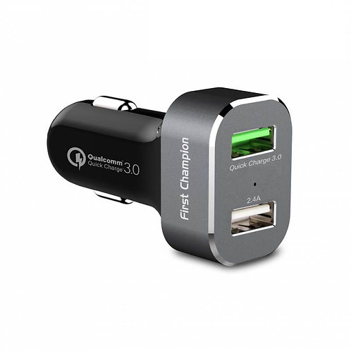 First Champion 2 Port USB Quick Charge 3.0 Car Charger