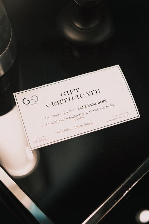 Gat3 Gift Certificate