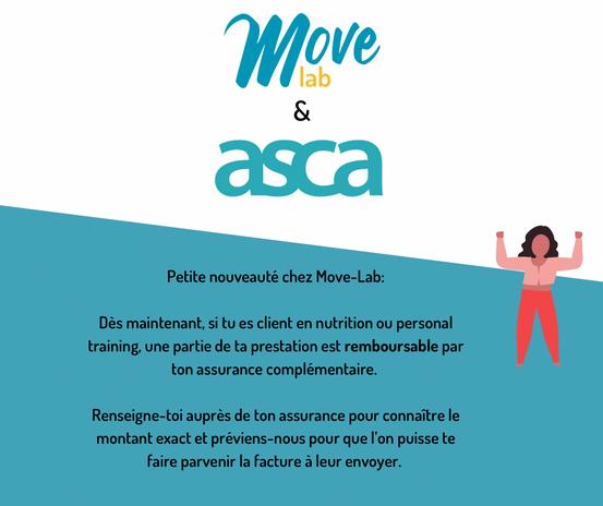 Move-Lab & ASCA - remboursé par ton assurance complémentaire 💰