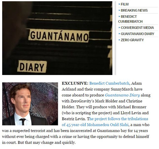 Benedict Cumberbatch Comes Aboard 'Guantanamo Diary' As Producer