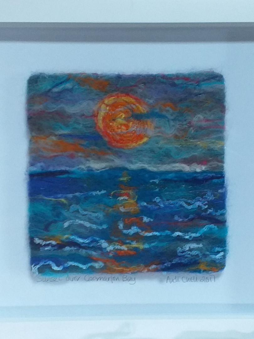 Andi Chell 'Sunset' 33 x 33cms