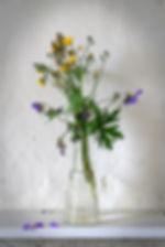 Terry Mills Vase of wild flowers. Still