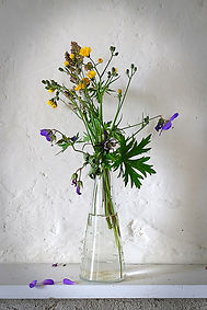 Terry Mills Vase of wild flowers. Still