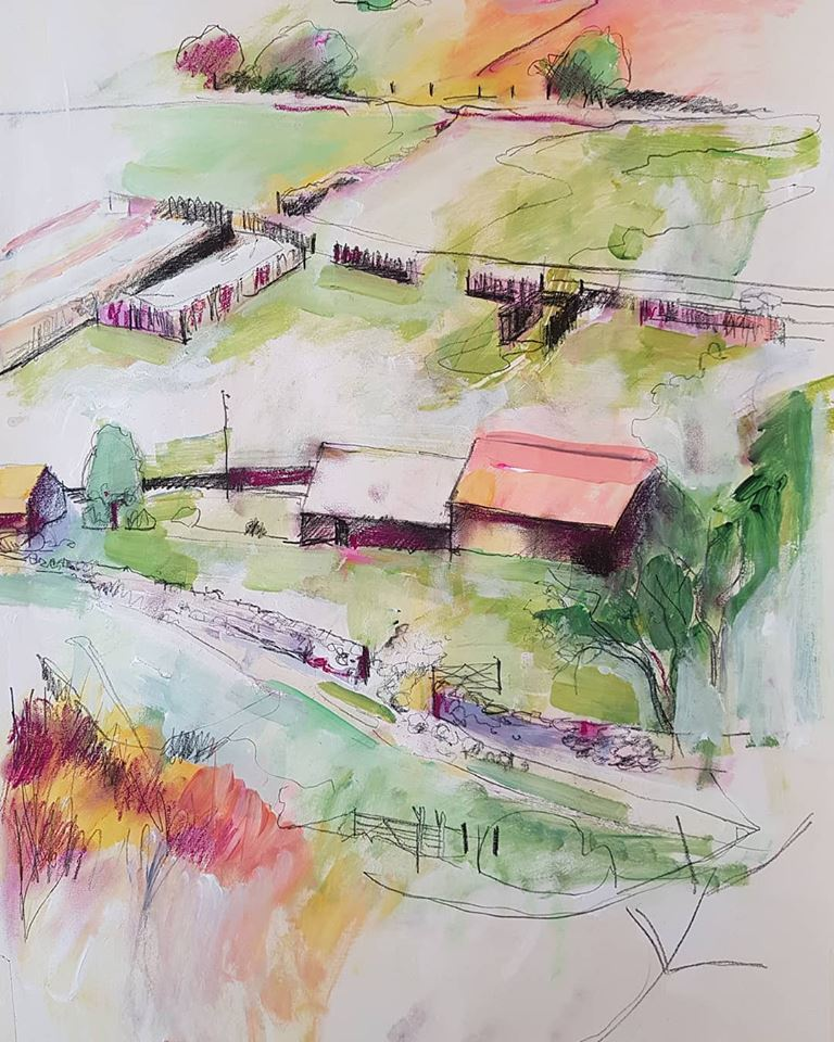 Bev Dunne- Fferm drawing