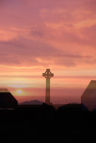 Terry Mills Sunset on Bardsey. An in-cam