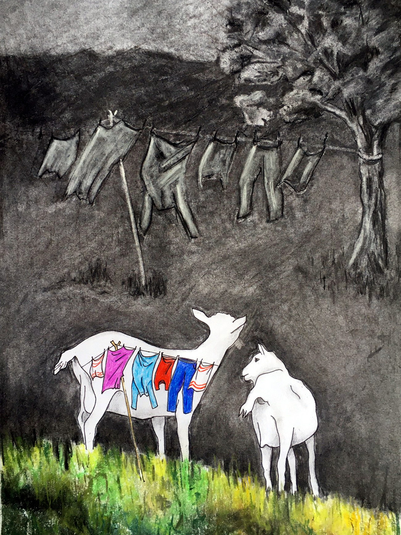 Rosalie Bissell 'Goats in the Garden'