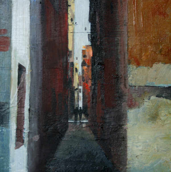 Rob Piercy - Figures-in-a-narrow-calle..