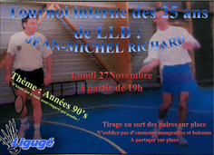 Tournoi Interne Jean-Michel Richard : 27 Novembre à 19h