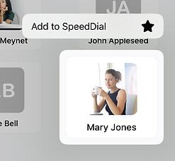 SpeedDial Long Press Add