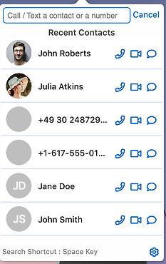 Recent Contacts