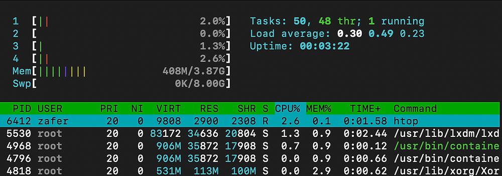 Jetson Nano Memory with Lubuntu Desktop
