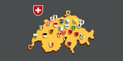 Flags of Swiss Cantons Stickers