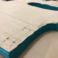 The Cutting of multiple layers for mater