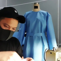 Designer Justin Yap Sewing PPE Suits.mp4