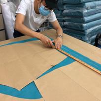 Designer Khoon Hooi Working on the patte