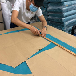 Designer Khoon Hooi Working on the patte
