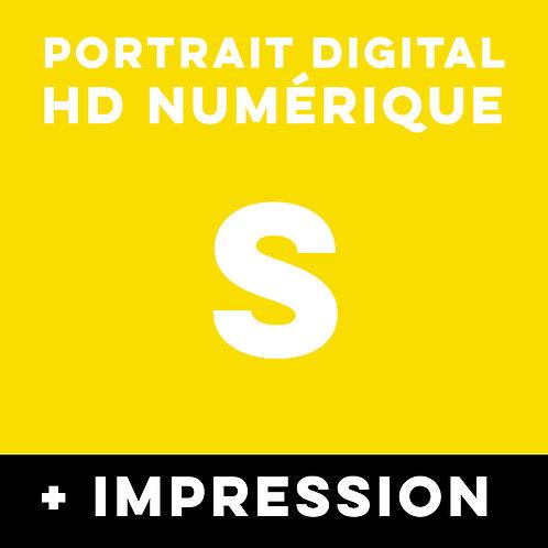 1 PORTRAITHD NUMERIQUE TAILLE S + IMPRESSION