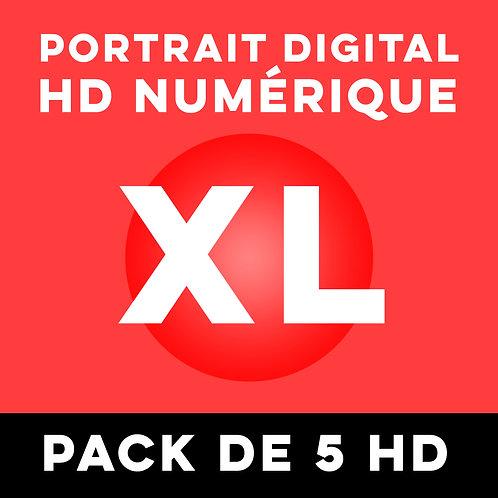 PACK DE 5 PORTRAITS HD NUMÉRIQUE TAILLE XL