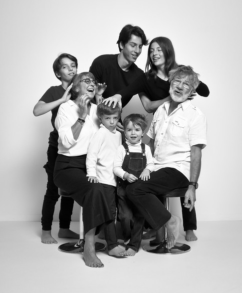 Gilda, Bernard et leurs petits-enfants