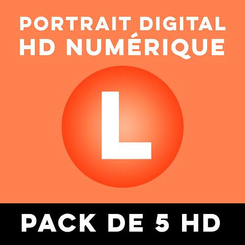 PACK DE 5 PORTRAITS HD NUMÉRIQUE TAILLE L
