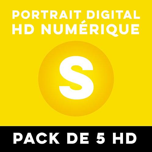 PACK 5 PORTRAITS HD NUMÉRIQUES TAILLE S