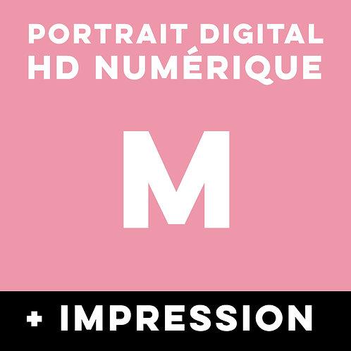 1 PORTRAIT HD NUMERIQUE TAILLE M + IMPRESSION