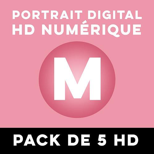 PACK DE 5 PORTRAITS HD NUMÉRIQUE TAILLE M
