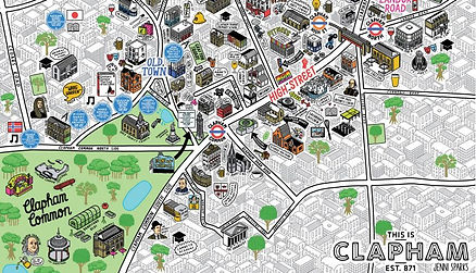 map of clapham