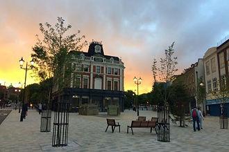 archway tavern sunset