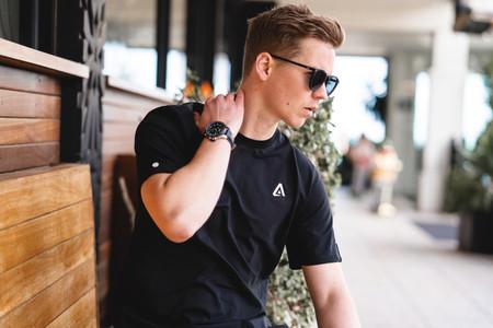 amos the label black shirt