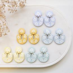 Blue Pincushion Earrings