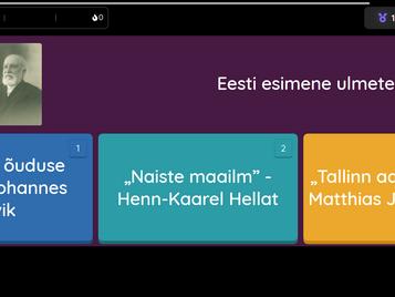 Eesti esimesed kirjandusmaastikul