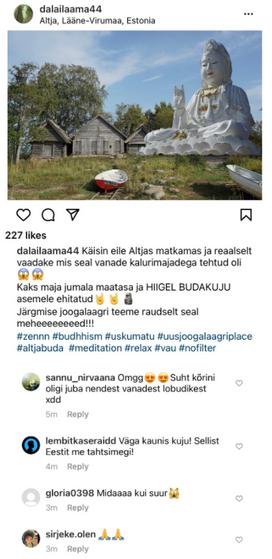 Postitus Instagramis