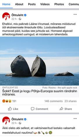 """""""Šokk!! Eesti ja kogu Põhja- Euroopa suurim rändrahn murenes"""""""