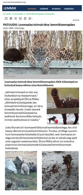 """""""Piltuudis: lemmikloomapäev loomaaias"""""""