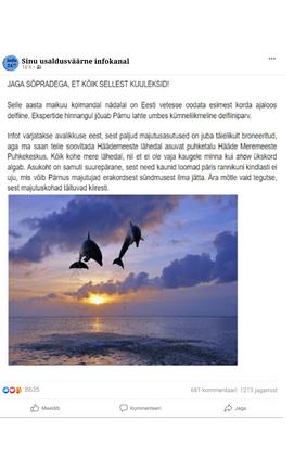 """""""Delfiinid Pärnu lahes"""""""