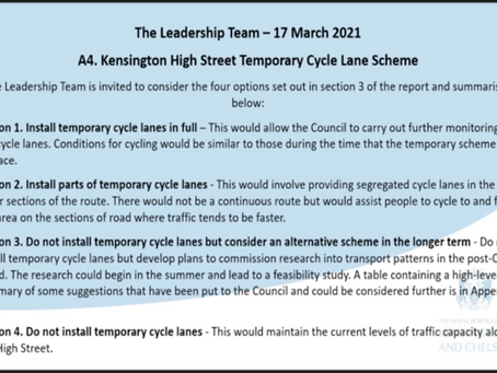 Alternative Cycle Scheme option 3 will be researched.
